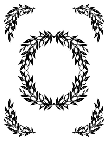 Olive Branches Frames With Room For Text