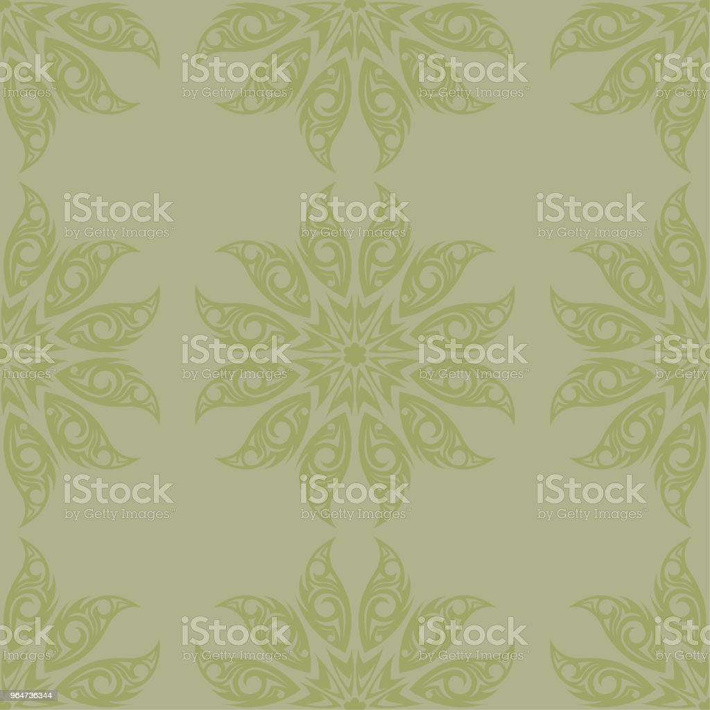 Olive green and gray floral seamless pattern royalty-free olive green and gray floral seamless pattern stock vector art & more images of abstract
