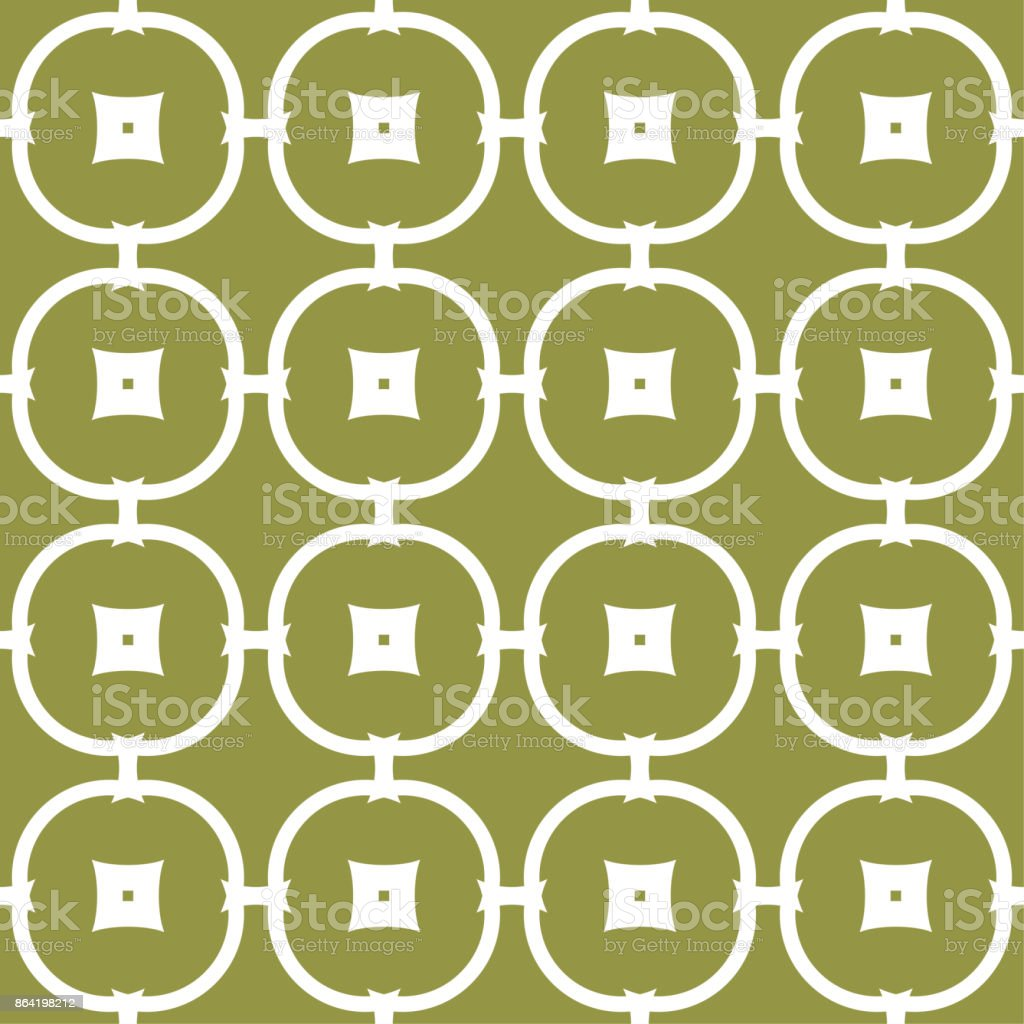 Olive green and white geometric ornament. Seamless pattern royalty-free olive green and white geometric ornament seamless pattern stock vector art & more images of abstract