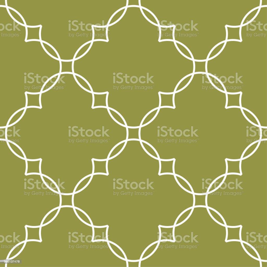Olivgrönt och vitt geometriska prydnad. Seamless mönster - Royaltyfri Abstrakt vektorgrafik