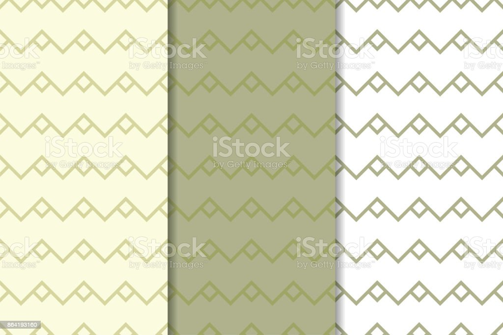 Olive green and white set of geometric seamless patterns royalty-free olive green and white set of geometric seamless patterns stock vector art & more images of abstract