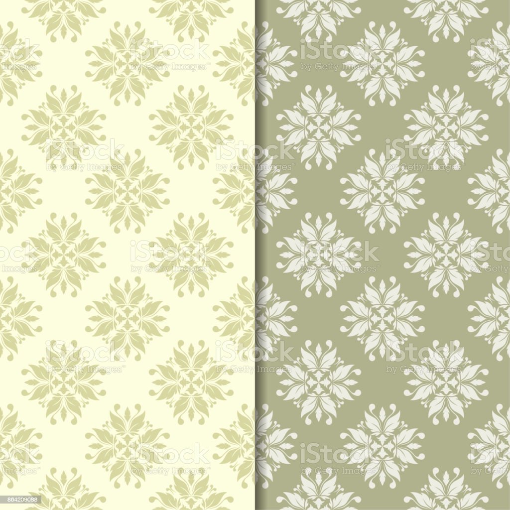 Olive green floral backgrounds. Set of seamless patterns royalty-free olive green floral backgrounds set of seamless patterns stock vector art & more images of abstract