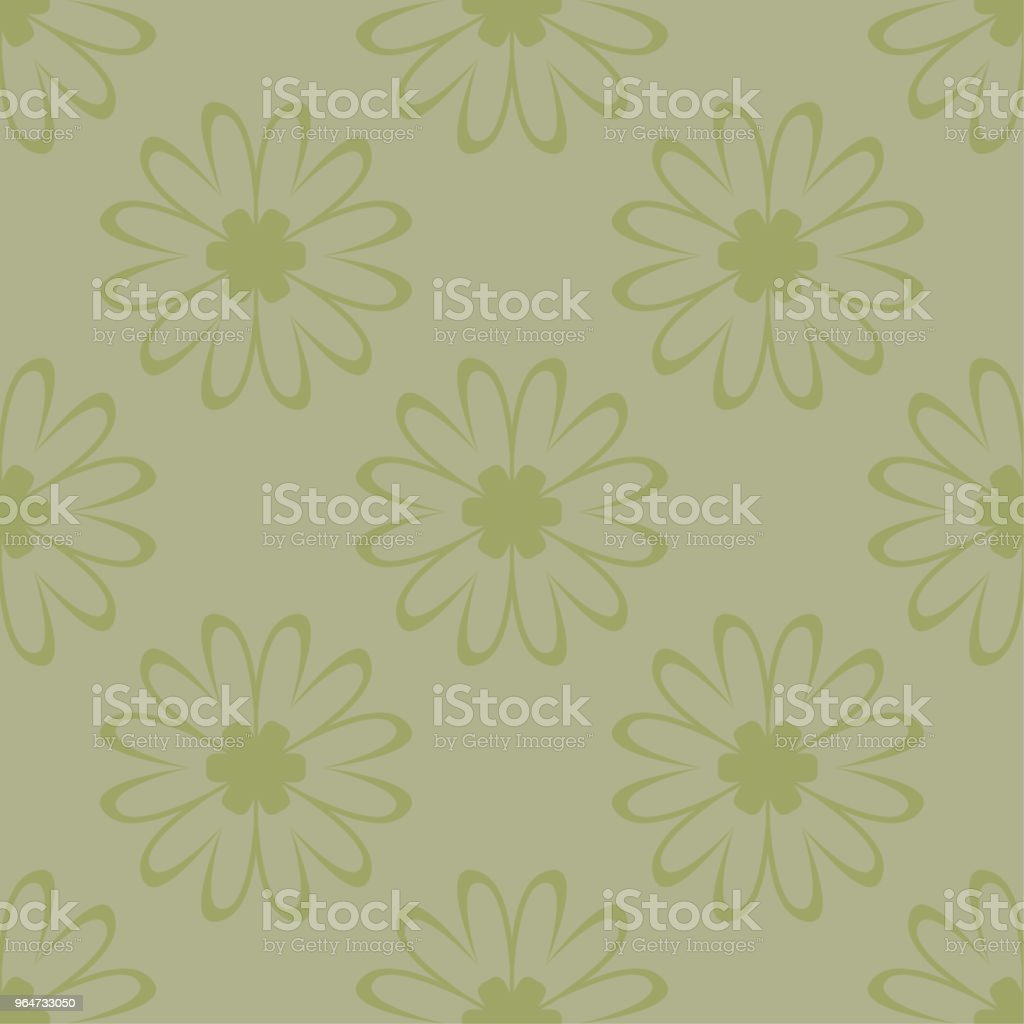 Olive green floral seamless pattern. Ornamental background royalty-free olive green floral seamless pattern ornamental background stock vector art & more images of abstract