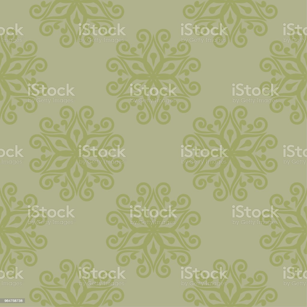 Olive green floral seamless pattern royalty-free olive green floral seamless pattern stock vector art & more images of abstract