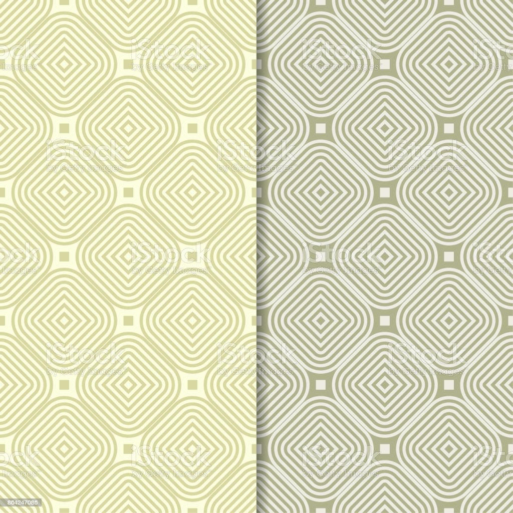 Olive green geometric ornaments. Set of seamless patterns royalty-free olive green geometric ornaments set of seamless patterns stock vector art & more images of abstract