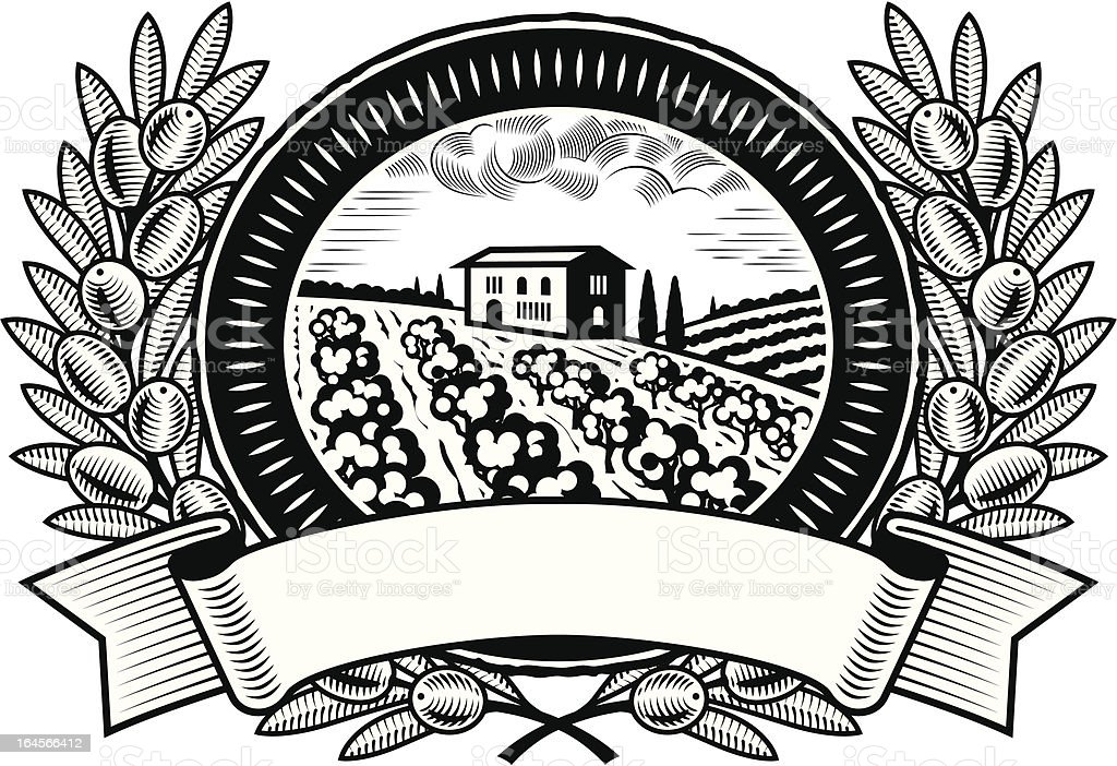 Olive harvest label black and white royalty-free olive harvest label black and white stock vector art & more images of agriculture