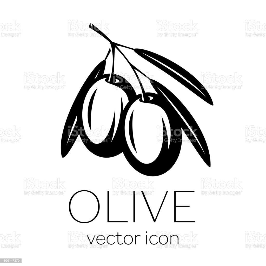 Olive icon. Logo illustration vector art illustration