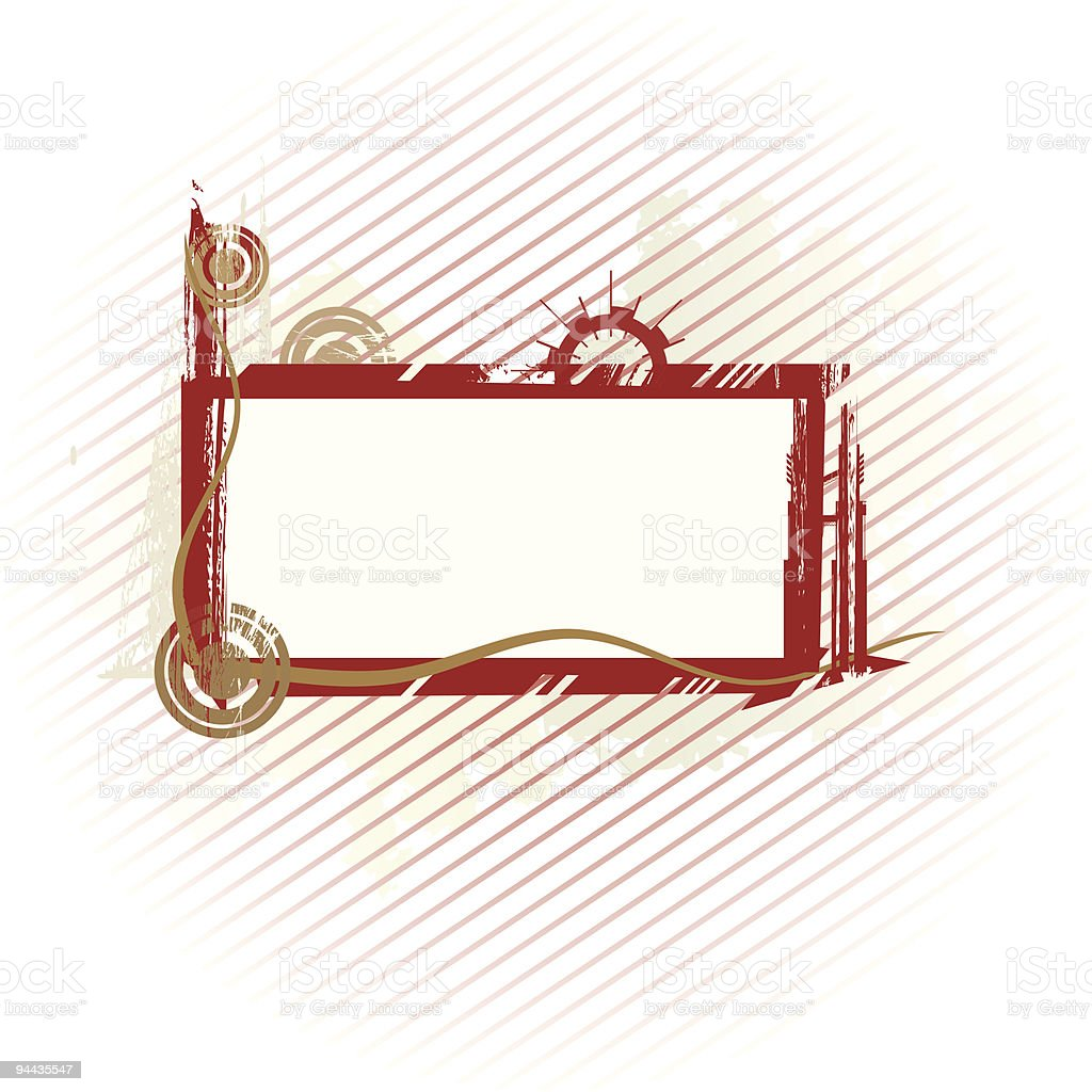 Olive industrial frame royalty-free stock vector art