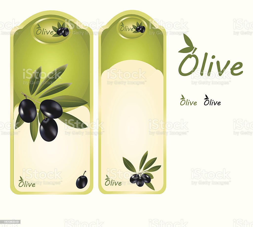 Olive label royalty-free stock vector art