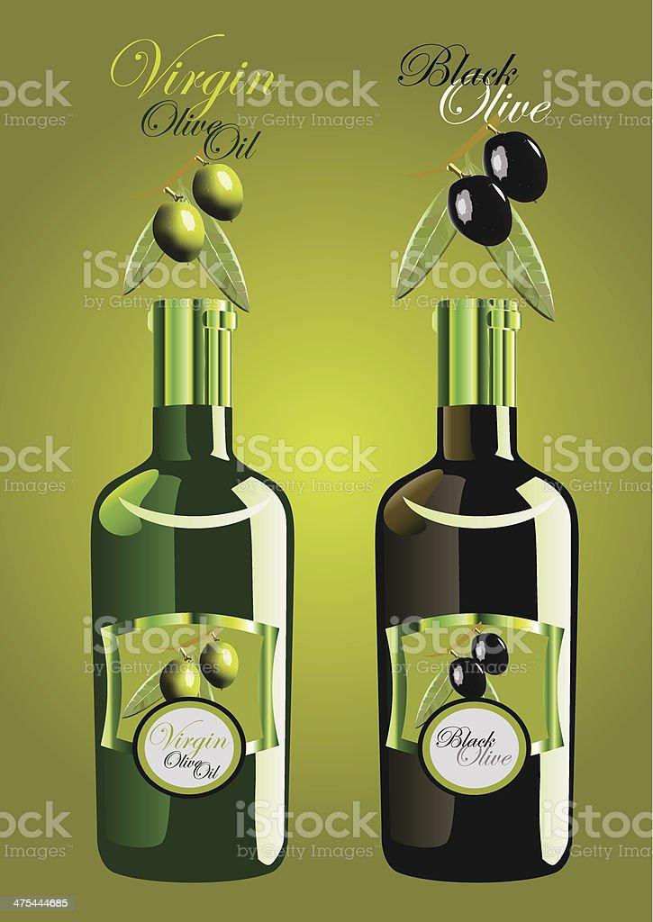 olive oil bottle royalty-free stock vector art