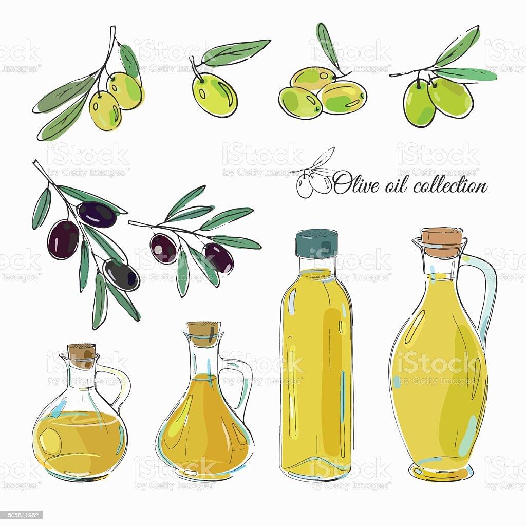 De azeite frascos - ilustração de arte vetorial