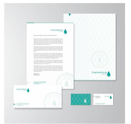 Olive oil company stationery design