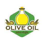 Olive oil insignia with text space for your slogan / tag line, vector illustration