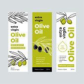 Design templates for packaging oil. Vector illustration