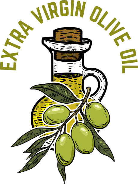 Vector icon olive oil extra virgin product label — Stock ...  |Extra Virgin Olive Oil Label