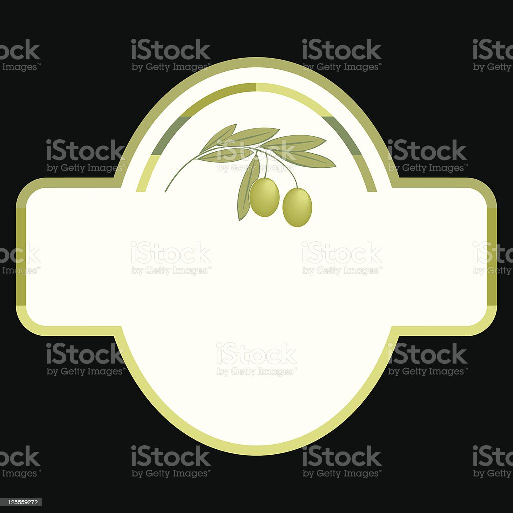 Olive Oil label royalty-free stock vector art