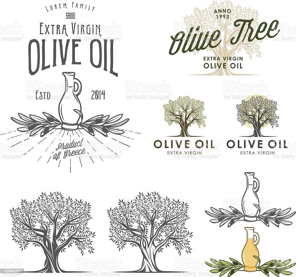 Etichette di olio doliva e gli elementi di design for Elementi di design