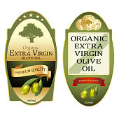 Olive oil labels set. Elegant premium banners design for packaging. Illustration vector.