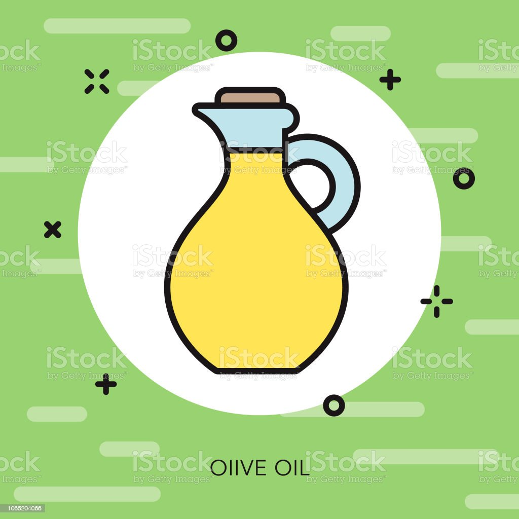 Olive Oil Thin Line Italy Icon vector art illustration