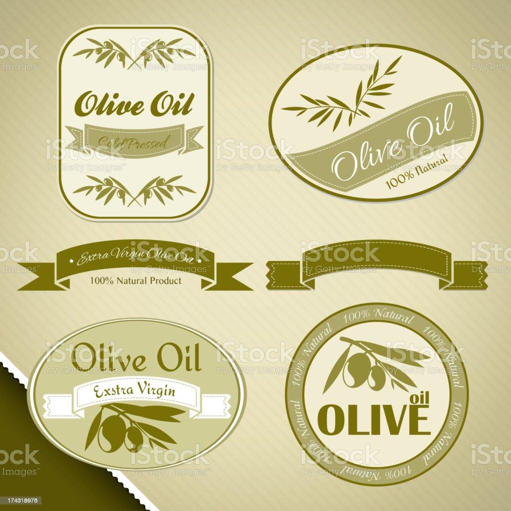 Olive oil vintage labels royalty-free olive oil vintage labels stock vector art & more images of branch - plant part