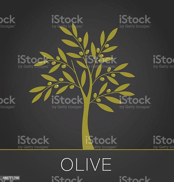 Olive tree label on dark background vector illustration vector id486771756?b=1&k=6&m=486771756&s=612x612&h=nylg2erriexgmtcgz2i1m0l7d1xnhwlr9b8jvgja0cu=