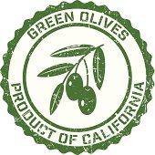 Olives Grunge Rubber Stamp