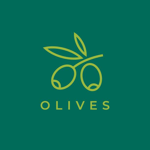 Olives icon. Olive branch. Olives icon. Olive branch. olive branch stock illustrations
