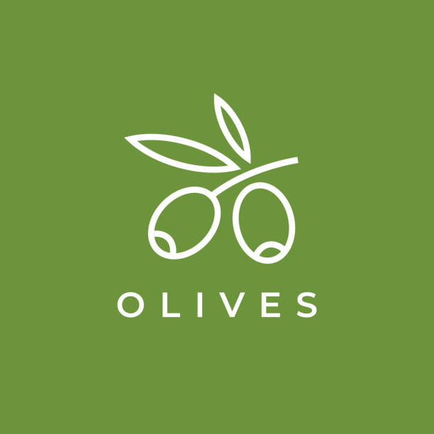 Olives icon. Olive branch. Olives icon. Olive branch. olives stock illustrations
