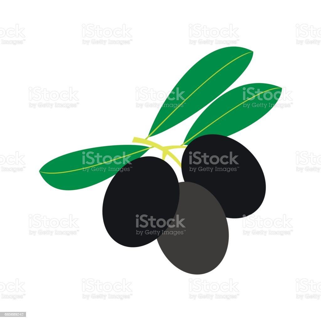 橄欖葉圖示,樹枝上的平的風格 免版稅 橄欖葉圖示樹枝上的平的風格 向量插圖及更多 俄羅斯 圖片