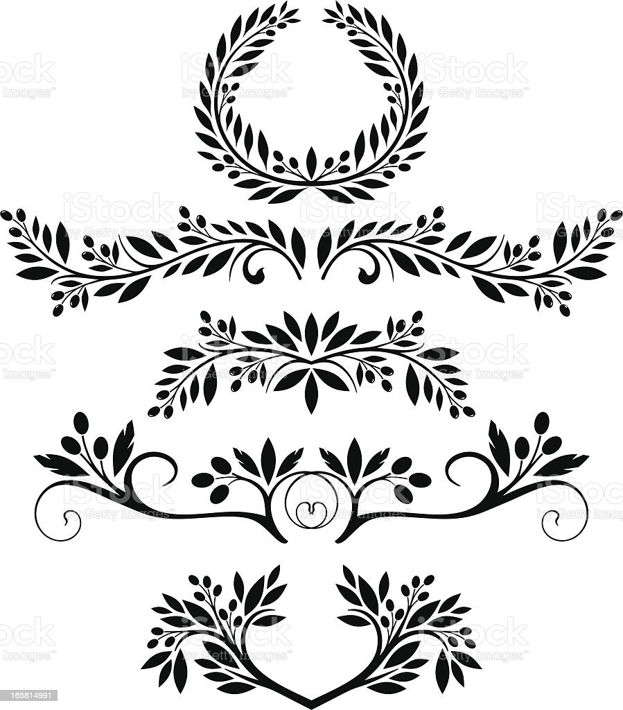 Olives royalty-free stock vector art