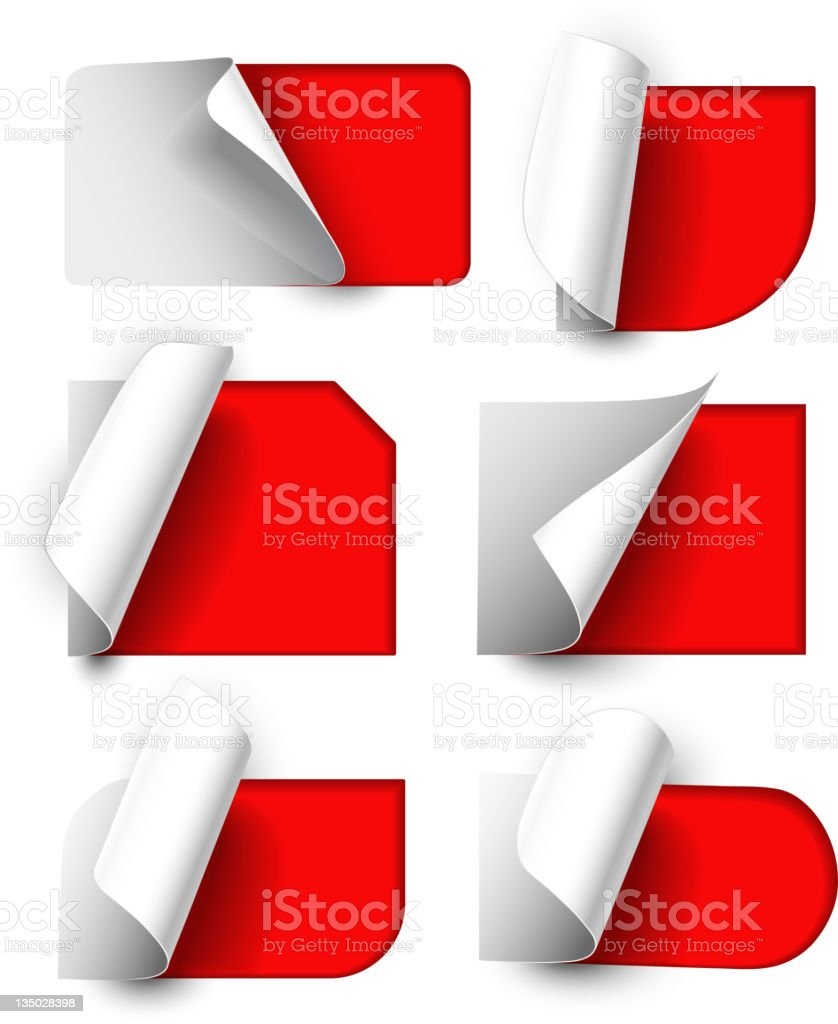 Сollection of labels royalty-free stock vector art
