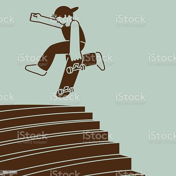 Ollie Airwalk On Skateboard-vektorgrafik och fler bilder på Barn