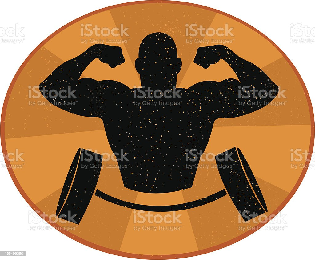 Ols School Gym royalty-free stock vector art