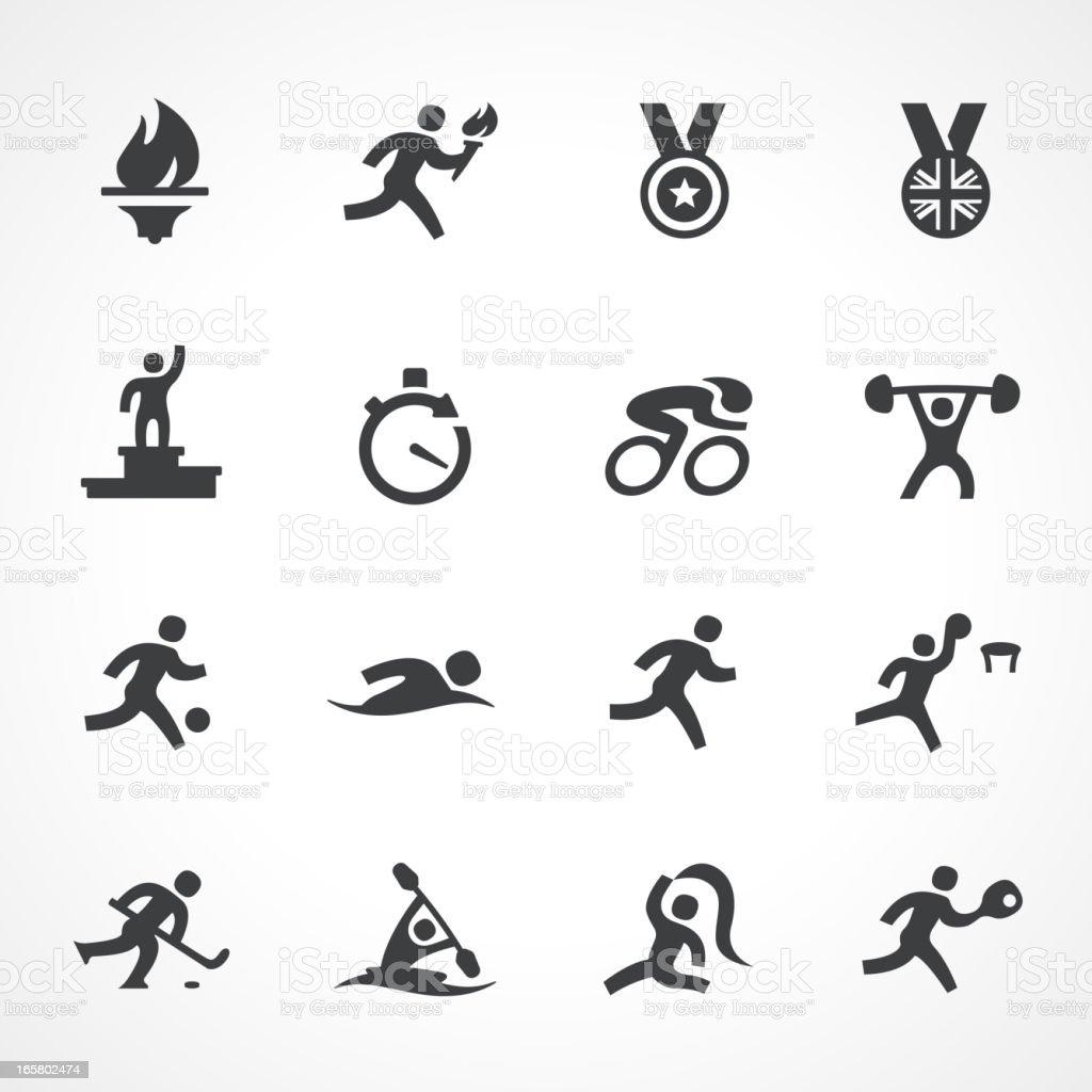 Olympic icons vector art illustration