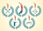 Olympic sports emblems