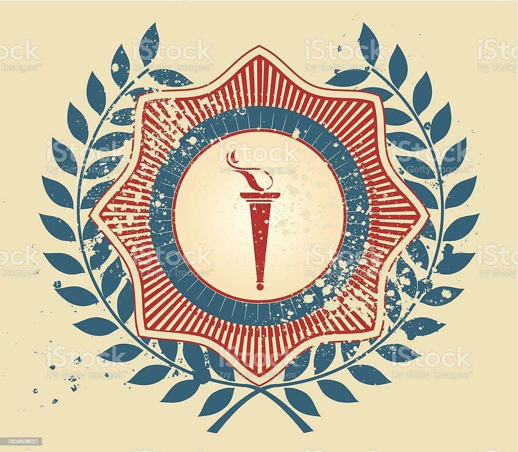 Olympic torch emblem royalty-free stock vector art
