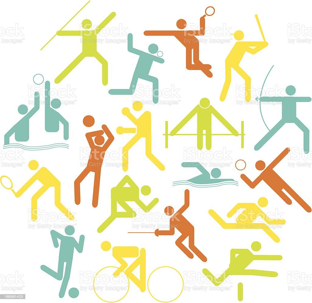 Olympics Athletic Symbols royalty-free stock vector art