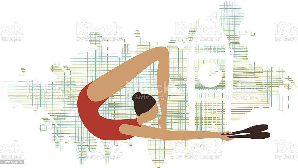 Olympics rhythmic gymnastics royalty-free olympics rhythmic gymnastics stock vector art & more images of activity