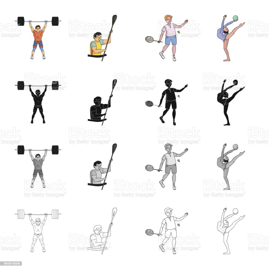 Olympics,hobbies, activities, and other web icon in cartoon style.Sport, athlete, man icons in set collection. royalty-free olympicshobbies activities and other web icon in cartoon stylesport athlete man icons in set collection stock vector art & more images of adult