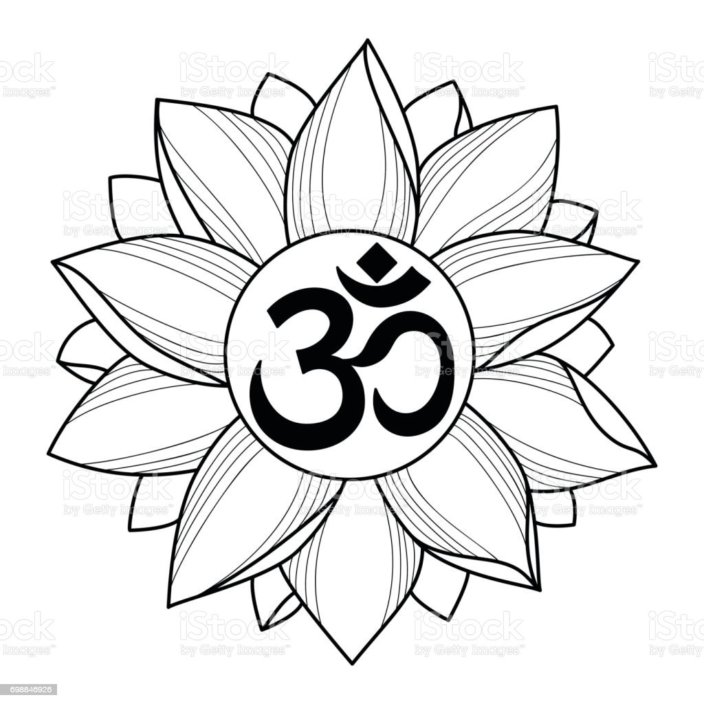 Om and lotus tattoo stock vector art more images of abstract om and lotus tattoo royalty free om and lotus tattoo stock vector art amp izmirmasajfo