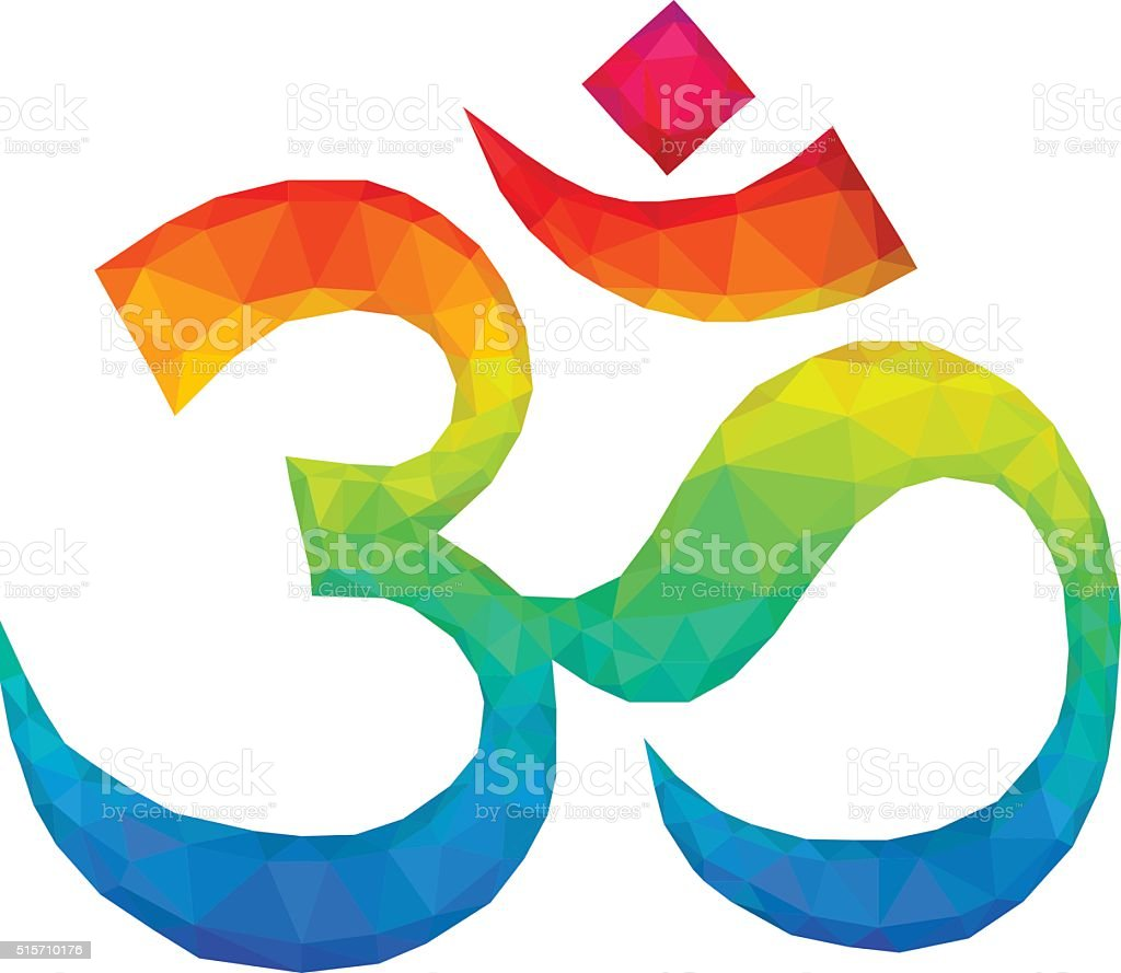 Om Aum Symbol In Polygonal Style Stock Vector Art More Images Of
