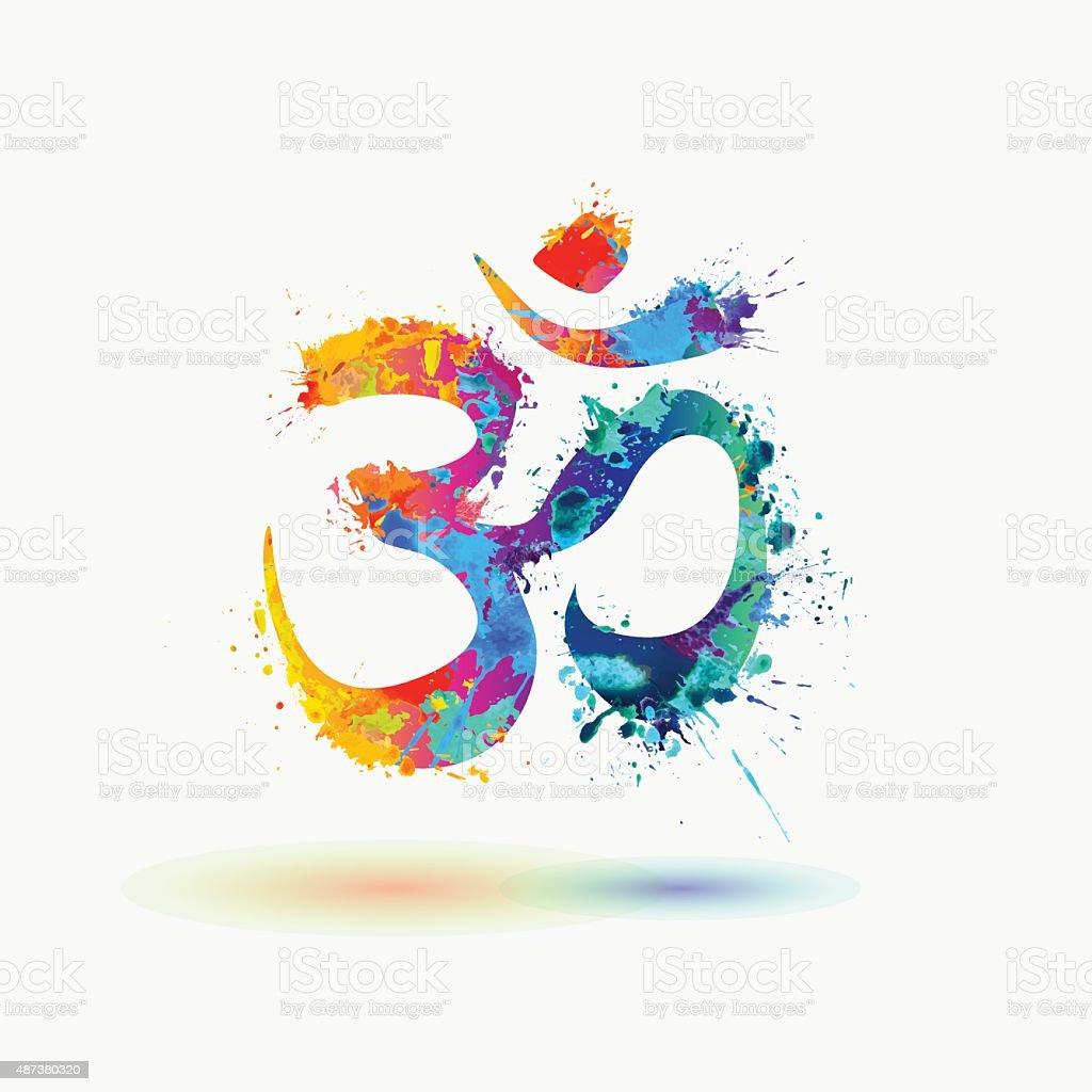 Om. Hindu lucky symbol vector art illustration