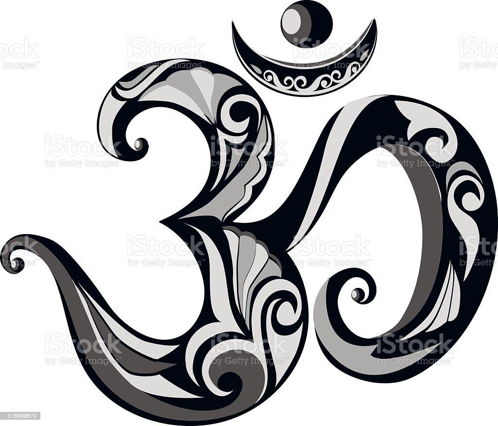 Om Hindu symbol. vector art illustration