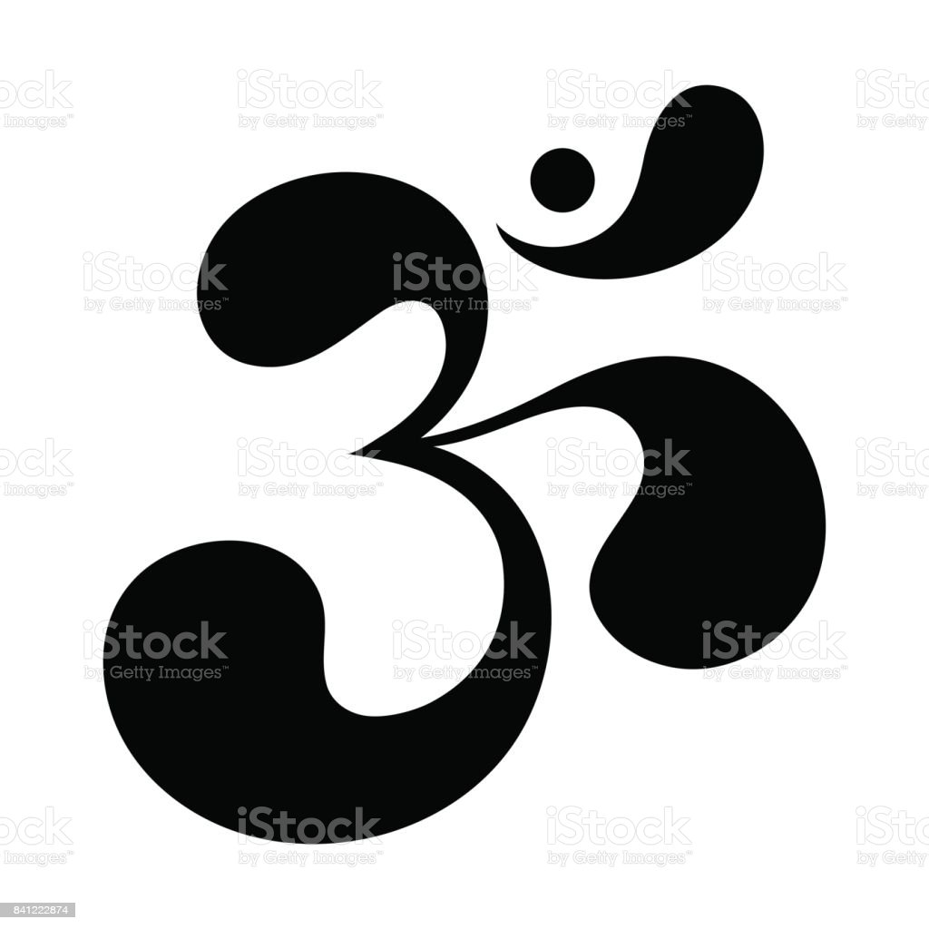 Om Or Aum Indian Sacred Sound The Symbol Of The Divine Triad Of
