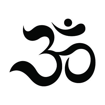 Om or Aum Indian sacred sound.