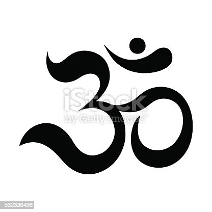 istock Om or Aum Indian sacred sound. 532336496