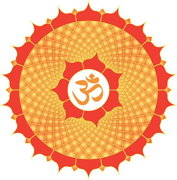 Om or Aum  Symbol with meditative mandala, Vector Illustration vector art illustration