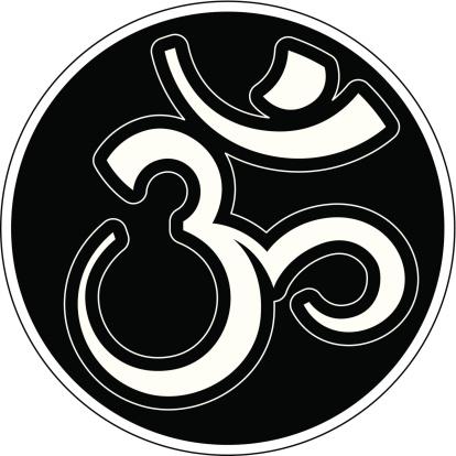 Om saskrit syllable (Aum) in a circle