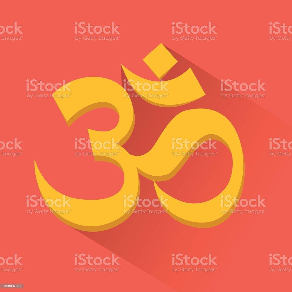 Om sign. Induism symbol royalty-free om sign induism symbol stock vector art & more images of agreement