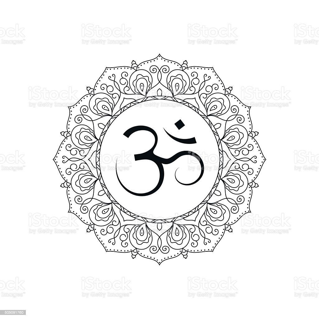 Om symbol in vector vector art illustration